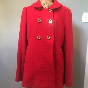 Juicy Couture pea coat with gold buttons
