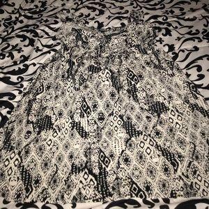Black and white skull summer dress