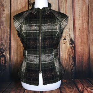 Cabi Tweed belted vest Sz. Small