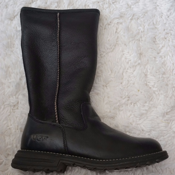343e404c9f4 UGG Brooks Tall Boot - Black Leather -- NEVER WORN NWT