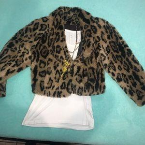 Jackets & Blazers - Vintage Faux Fur Cheetah Jacket