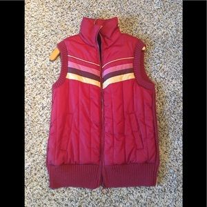 Fossil Maroon Puffer Sweater Vest XL
