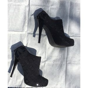 🔥 Qupid Lace Overlay Ankle Booties 🔥