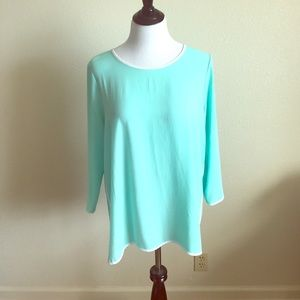Tops - Markdown! 🔥Turquoise, quarter sleeve top!