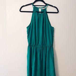 American eagle green flowy silky dress