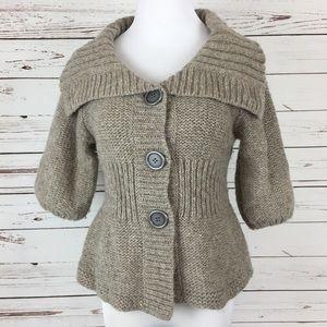 Free People S Chunky Sweater Cardigan Peplum Knit
