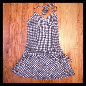 Adorable GUESS size 7 gingham mini halter dress