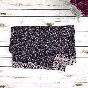Proenza Schouler Black Pink Reversible Cover/Scarf
