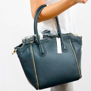 Sole Society Turquoise Leather Shoulder Bag, NWT!!