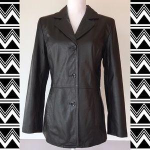 Colebrook & Co. Genuine Black Leather Jacket