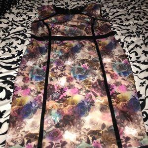 Monif C floral pencil dress