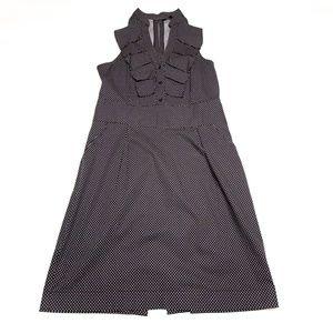 EXPRESS Black & White Polka dot dress