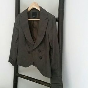 Brown double-breasted blazer