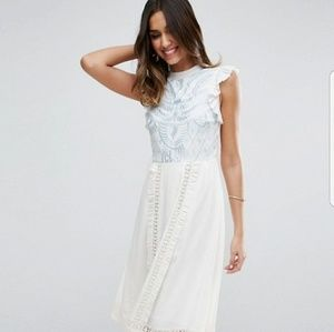 ASOS Premium Sleeveless Embroidered  dress