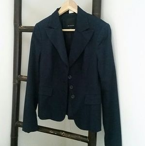 Navy three button blazer