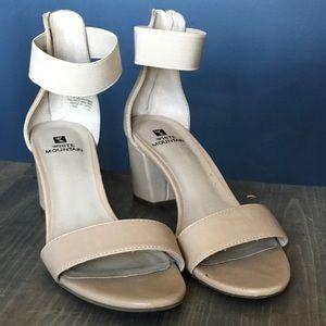 Nude heels worn once