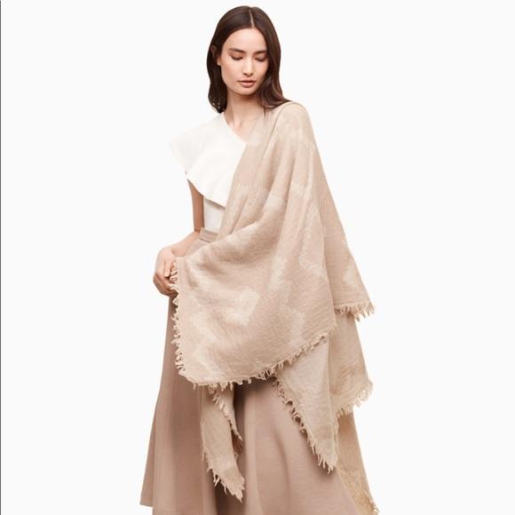 a655c223685c6 Aritzia Accessories | Wilfred Mosaic Blanket Scarf Cream | Poshmark