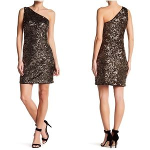 Romeo & Juliet Couture One Shoulder Sequin Dress
