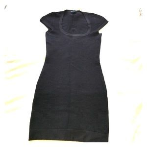 French Connection black knit dress