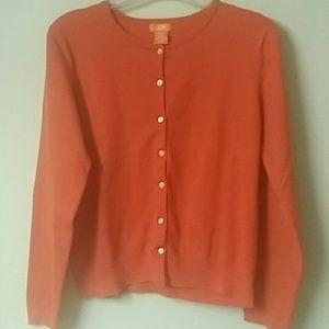 Ladies orange cardigan sweater by joe fresh