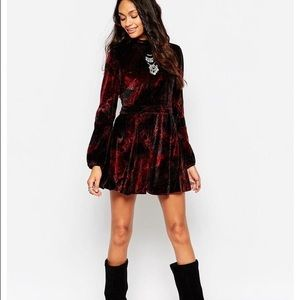 Free People Velvet Romper