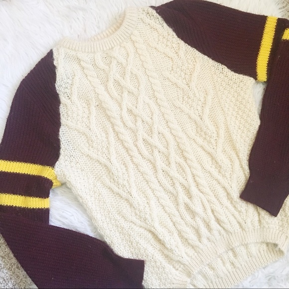Urban Renewal Sweaters Oversized Gryffindor Harry Potter Knit