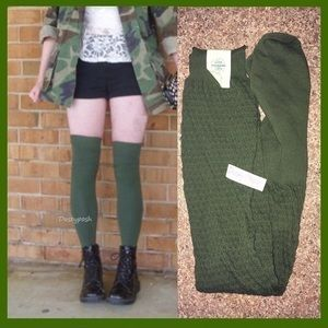 Free People Over Knee Socks Textured Thigh High
