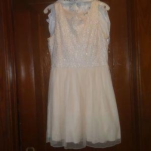 Nude homecoming/ formal dress
