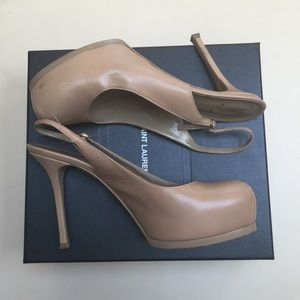 YSL Nude Tribtoo Heel Size 41.5 (comes with box!)