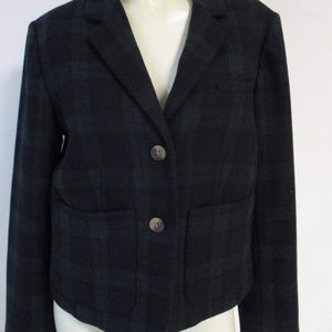 Anthropologie Cartonnier Plaid Wool Blazer 8