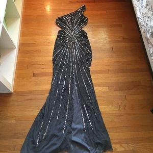 Jovani charcoal grey prom dress