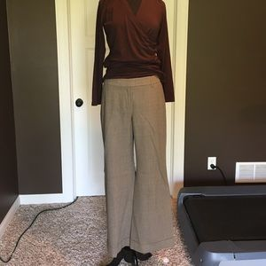 """Loft """"Julie fit"""" brown checkered trousers"""