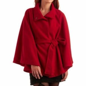 Classic Red Cape by ModCloth