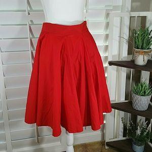 ZARA WOMAN Skater Red Skirt