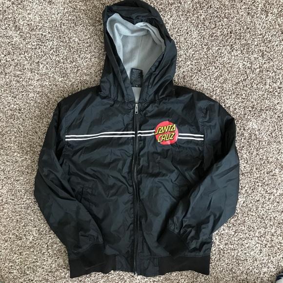 dabb121d6b Scskate Jackets & Coats | Santa Cruz Dot Hooded Windbreaker | Poshmark
