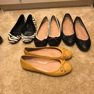 Four pairs of Banana Republic Flats size 7.5