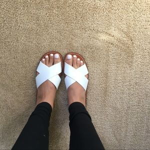 Cute white slides from Gap