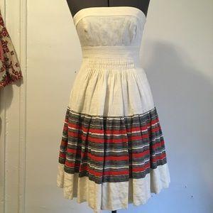 Strapless Linen Summer Dress