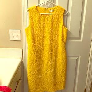 Yellow Calvin Klein dress
