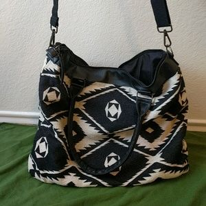 Mossimo black and white weekend bag