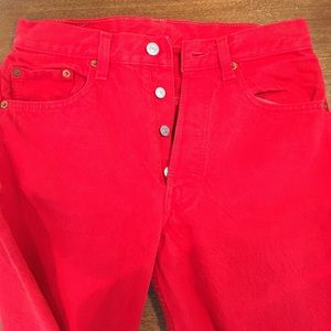 e64cc988 Levi's Jeans | Levis Vintage 501 Cherry Red High Waisted | Poshmark