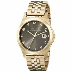 Marc Jacobs Women's The Slim Taupe Gold Watch