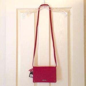 Pink & red Dana Buchman multi-pocket cross-body 👜