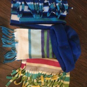 Set of 3 Old Navy Scarves + Hat!