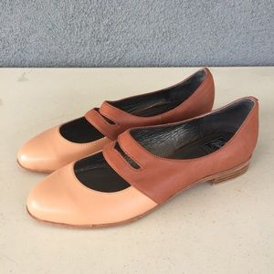 Vintage Jeffrey Campbell Deposit Mary Janes Flats