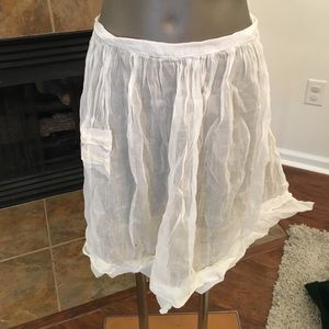 White  vintage chiffon and lace apron