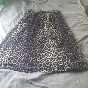 Maxi cheetah print skirt