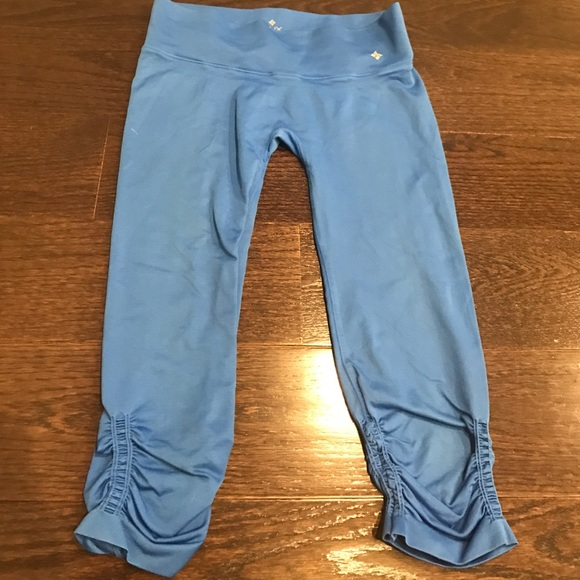 900c3276117cdd NUX Pants | Light Blue Capri Workout Leggings | Poshmark