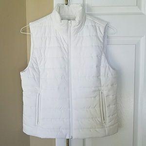 White puffer vest from LOFT, medium