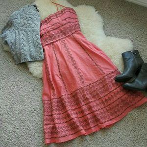 BCBG MaxAzria Coral Embroidered Dress